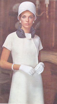 Vintage 1960s Molyneux Vogue Paris Original Sewing Pattern 2040 Womens Mod Dress Size 14 Bust 36