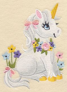 Soft and Sweet Unicorn design (L3219) from www.Emblibrary.com
