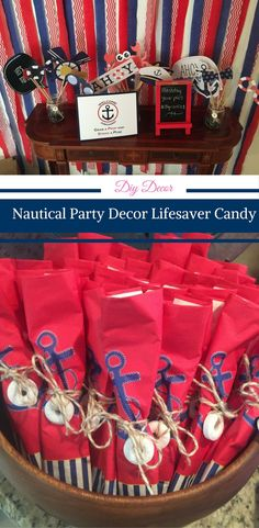 Nautical Party Decor with Lifesaver Candy by Happy Family Blog