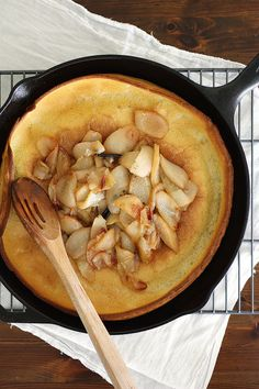 Browned Butter Dutch Baby with Vanilla Roasted Pears | Girl Versus Dough