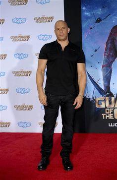 "#VinDiesel en el estreno del filme ""The Guardians Of The Galaxy"" http://on-msn.com/WzDu3F"