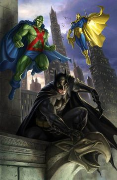 Batman, Martian Manhunter, Doctor Fate by Dan Scott