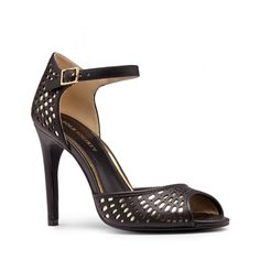Sole Society Paulinna Peep Toe Heel - Black Gold-8   49% OFF