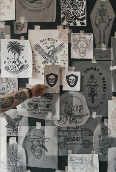 A look back at all the graphics we've created, had printed and become favourites over the years. Tattoo Studio, Tattoo Salon, Aesthetic Tattoo, Artist Aesthetic, Famous Tattoo Artists, Tattoo Master, Tattoo Photography, Wall Drawing, Tattoo Parlors
