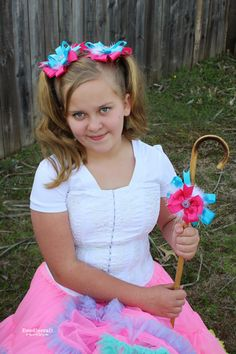 Little Bo Peep Pigtail Bows!  Halloween costumes are all about the accessories!