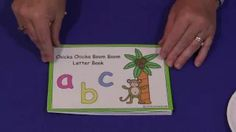 childcareland - Chicka Chicka Boom Boom Letter Book to go along with song (link under 'Learning')