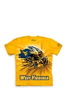 The Mountain  West Virginia Mountaineers Breakthrough Helmet T-Shirt