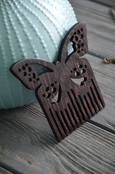 Butterfly wooden comb for woman Hair comb Gift idea for Women Mom Friend Wife