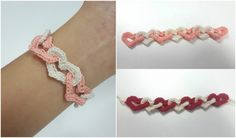 Interlinked Hearts Bracelet [Free Crochet Pattern]