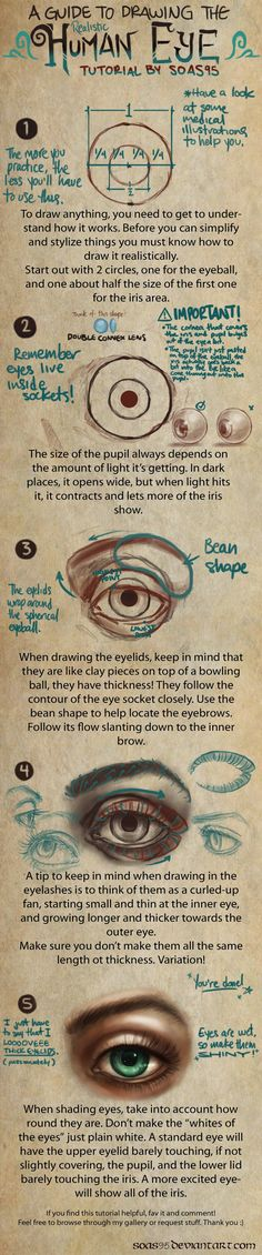 Human Eye- TUTORIAL by *soas95 on deviantART http://soas95.deviantart.com/art/Human-Eye-TUTORIAL-392610867 ★ || CHARACTER DESIGN REFERENCES | キャラクターデザイン • Find more artworks at https://www.facebook.com/CharacterDesignReferences http://www.pinterest.com/characterdesigh and learn how to draw: #concept #art #animation #anime #comics || ★