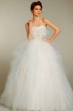 Blush by Hayley Paige - Strapless Ball Gown in Tulle