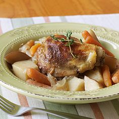 Slow-Cooker Chicken Thighs | MyRecipes.com