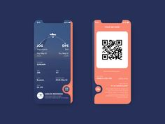 Boarding Pass - Expolore the best and the special ideas about App design Web And App Design, Mobile App Design, Web Mobile, Layout Design, App Ui Design, User Interface Design, Logo Design, Design Design, App Design Inspiration