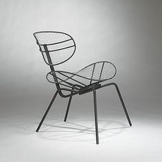 Luciano Grassi, Sergio Conti, and Marisa Forlani; Copper and Nylon 'Butterfly' Chair for Paoli, 1955