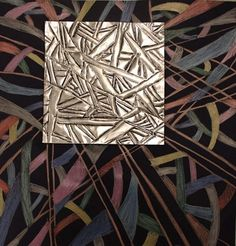 This art has both actual and implied texture because this looks like it was crafted with metal and it definatly has that metal look and feel so i would say it is Actual and implied i see impled at the bottom of the artwork. Aluminum Foil Art, Classe D'art, Middle School Art Projects, Zentangle, 7th Grade Art, Copper Art, Art Classroom, Classroom Ideas, Art Graphique