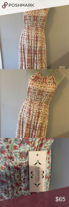NWT Nanette Lepore Clara Wildflower Maxi Dress Super cute boho printer Maxi dress by Nanette by Nanette Lepore. Orange and blue bohemian floral print. Lightweight fabric. Perfect for vacation or summer! Nanette Lepore Dresses Maxi