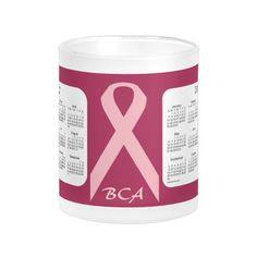 Breast Cancer Awareness 2 Year 2017-2018 Calendar Frosted Mug Design from Mug Designs by Janz