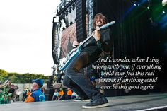 Dave Grohl of the Foo Fighters. Lyrics from 'Everlong' Photo: Danny North/NME