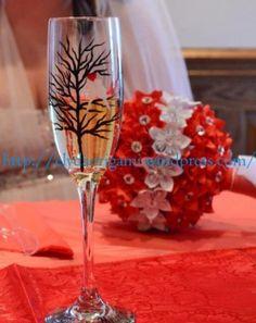 origami wedding boquet Origami Wedding, Boquet, Flute, Wedding Designs, Champagne, Tableware, Dinnerware, Tablewares, Flutes