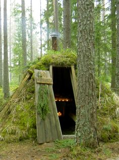 KOLARBYN FOREST HUTS Lake Skärsjön, Sweden - Deep in a forest frequented by brown bear, moose and wolves lies Kolarbyn with 12 cozy forest huts set in a glade alongside a beautiful lake. There is no electricity but live candles and a crackling fire place that will guide you asleep. All huts have a wood heater. http://www.wildsweden.com/kolarbyn-ecolodge/