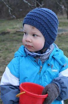 Pojan korvaläppämyssy pipo, dk-tiheys puuvillalanka käy myös