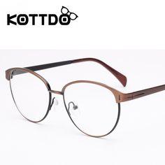 a0ca3998fe0e5 KOTTDO Fashion Vintage 2017 Decoration Optical Women Eyeglasses Frame Clear  Lens Eye Glasses Frames For Men Round Oculos