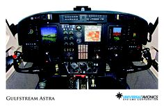 "Universal Avionics: Gulfstream Astra - (1) Display Suite: 3 EFI-890R 8.9"" Flat Panel Displays; (2) Situational Awareness: 1 Vision-1 Synthetic Vision System, 1 Terrain Awareness and Warning System (TAWS), 2 Application Server Units (ASU) for Jeppesen charts, checklists, weather and E-DOCS; (3) Flight Management: 1 UNS-1C+ FMS"