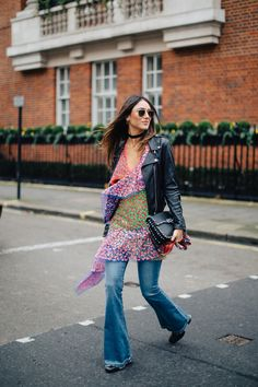 Dress with flares