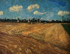 1888 Vincent Van Gogh Champs labourés, les sillons Huile sur Toile 72x92 cm Amsterdam Rijksmuseum Vincent Van Gogh