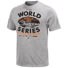 San Francisco Giants 2012 World Series Champions Official Club House T-Shirt