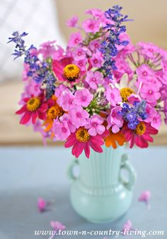 Summer Garden Flowers. A quick and easy way to freshen any room in the house.