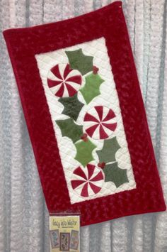 Seasonal Skinnies by Ribbon Candy Quilt Company: Cozy Into Winter  Perfect for my dining room