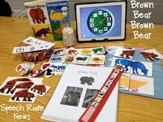 Brown Bear, Brown Bear-book with activities that target several language concepts. From The Speech Ladies.