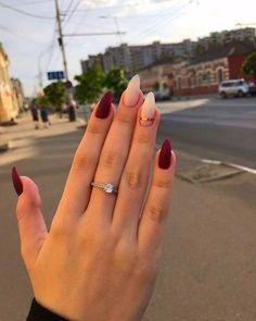 Nagel Kunst Stiletto nails for street style - - Dark Nail Designs, Fall Nail Art Designs, Acrylic Nail Designs, Acrylic Nails, Nail Polish Trends, Nail Trends, Color Trends, Neutral Nail Art, Stiletto Nails
