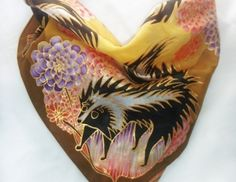 Hand painted silk scarfs by Danielle Attinella