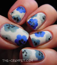 31DC2015-floral-nail-art-different-dimension-heavenly-waters-pluto-illamasqua-raindrops-barry-m-coconut-7.jpg (1401×1600)