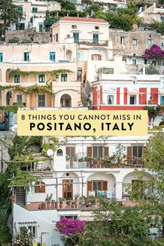 Positano on Italy's Amalfi Coast is full of so many amazing things to see and do that it can be hard to narrow down your to do list. Here are 8 things you absolutely cannot miss when visiting — the best things to do in Positano Italy! Naples Italy, Sicily Italy, Capri Italy, Calabria Italy, Sardinia Italy, Venice Italy, Rome Italy, Italy Honeymoon, Italy Vacation