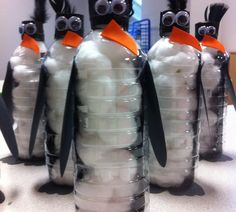 Penquin water bottle.... Something fun to do with ur old water bottles:)