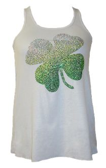 Shamrocks Glitter Top.  Get yours in time for St. Patrick's Day! Monogramthat.com