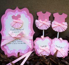 Handmade Pink Ballerina Thank You Tag for Girl by forLittleSmiles