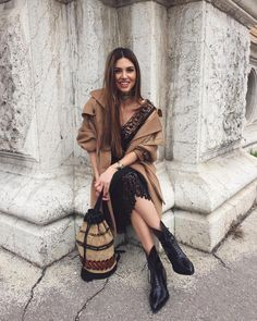 "Negin Mirsalehi on Instagram: ""My @albertaferretti look today made me... #mfw #neginmilan"""