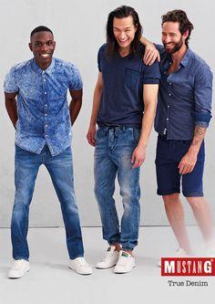Inspiriert wurde die Spring/Summer-Kollektion 2016 von Mustang Men vom authentischen Streetstyle unserer Großstädte in Deutschland: Hier werden unablässig die unterschiedlichsten Denim-Styles  breitenwirksam präsentiert und Arten zelebriert. Aufwendig gewaschene Shirts zu cleanen Rinsed Wash Denims, hochwertige Materialien in Jersey, Strick und French Terry in Kombination mit authentischen Jeans – alles ist möglich! Lass dich Jetzt von Mustang verzaubern bei Jeans-Meild.de