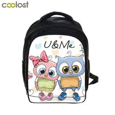 982a3d2941 Cartoon Owl Backpack Animal Print Children Book Bags Girls School Backpacks  for Teenager cartable enfant Kawaii