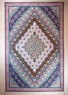 Burntwater Trading Post rug woven in the era, weaver unknown. Native American Rugs, Native American Artifacts, American Indian Art, Native American Indians, Navajo Weaving, Navajo Rugs, Indian Textiles, Trading Post, Indigenous Art