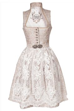 Tramontana Midi Dirndl in creme & beige The Dress, All Things, Wedding Planner, Fancy, Traditional, Formal Dresses, Chic, Outfits, Glamour