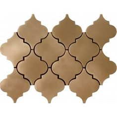Brushed Bronze Damask Pattern Polished Mosaic Tile by Soci