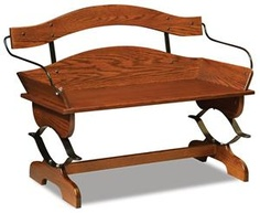 This Amish made Buckboard Bench is sure to become the centerpiece of your room!