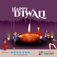 Happy Diwali from the team at Mirage Digital Happy Diwali, Aloe, Creative Design, Infographic, Sketches, Social Media, Graphic Design, Digital, Illustration