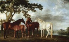 Landscape art Oil painting Horse Ballerina Mares and Foals in a River Landscape by George Stubbs High quality Hand painted Animal Painter, Animal Paintings, Horse Paintings, Oil Paintings, Arte Equina, Oil Painting Reproductions, Equine Art, Horse Art, Landscape Art