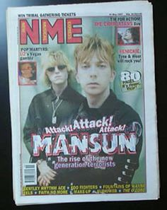 Not often Mansun made the front page of the music press.